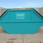 An enclosed skip with lockable lid.