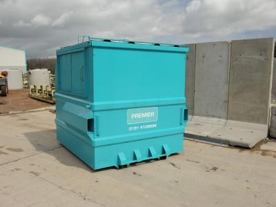 A front end loader (FEL) bin.