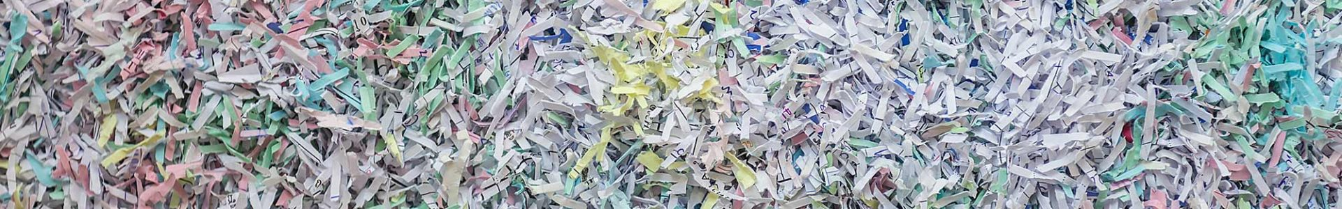 Some paper that has been shredded.